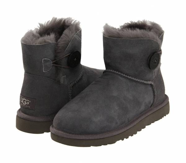 купить Угги UGG AUSTRALIA BAILEY BUTTON (3352/W) Grey
